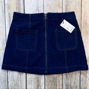 F21 Zip Up Jean Skirt